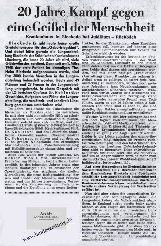Bericht Krankenhaus 1968 - I