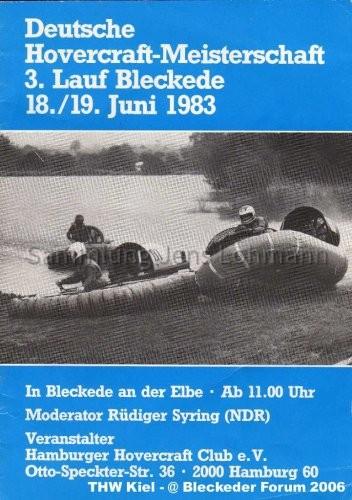 Programm Hovercraft 1983
