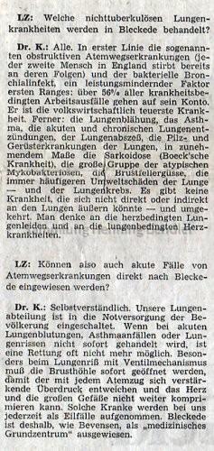 Krankenhaus 1973 -  Bericht Teil 4