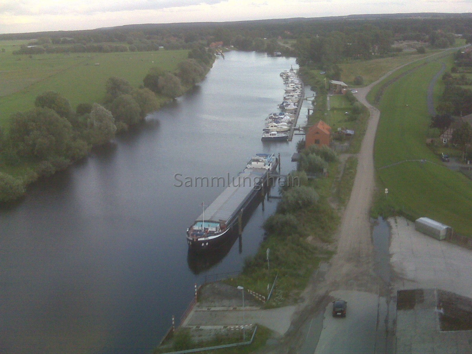 Luftaufnahme 2011 - Hafen Bleckede