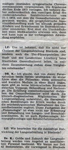 Krankenhaus 1973 - Bericht Teil 9