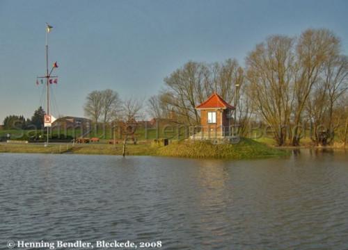 Hochwasser 2008 - Pegelhäuschen