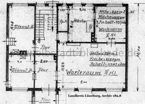 Zeichnung Bahnhof Bleckede 1939