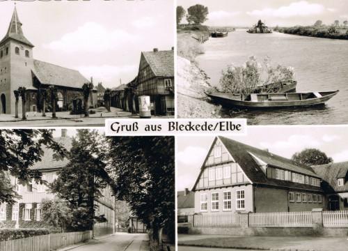 Schloß, Schule, St. Jacobi Kirche, Hafen 1959