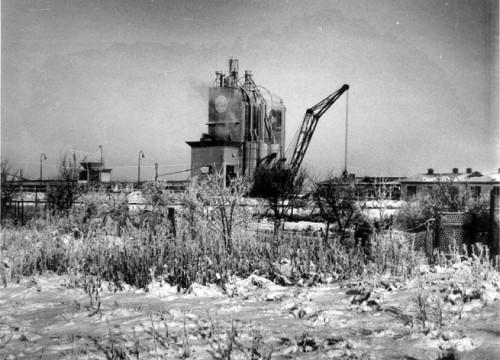 Porenbetonwerk am Hafen ca. 1949