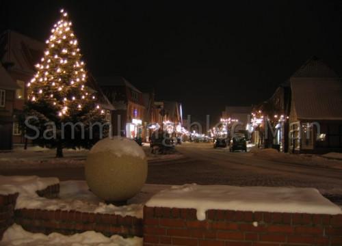 Weihnachtlicher Markt mit Brunnen 2010