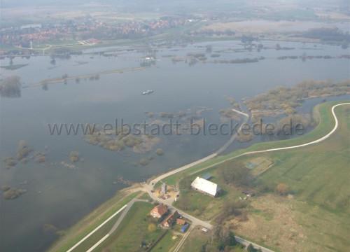 Luftaufnahme Bleckede - Ostseite