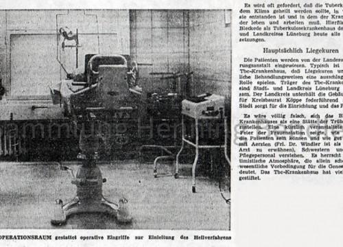 Krankenhaus 1958 Bericht II