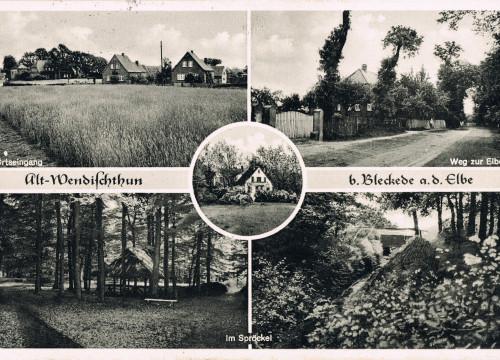 Ortseingang, Spröckel, Pension Koop 1961