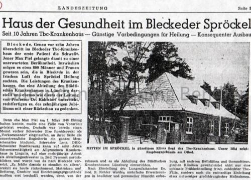 Krankenhaus 1958 Bericht I