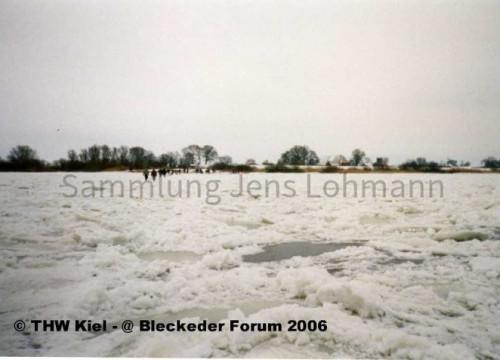 Zugefrorene Elbe 1996