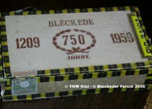 Zigarrenkiste 750 Jahre Bleckede