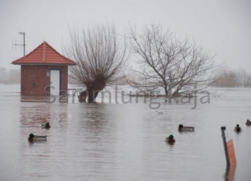 Hochwasser 2011 - Pegelhäuschen