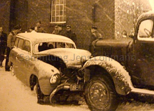 Autounfall ca. 1953