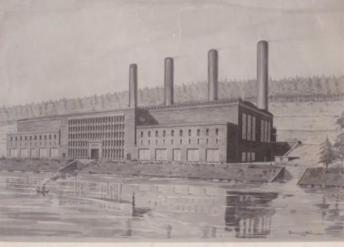 Kraftwerk Alt Garge gepl. Endausbau
