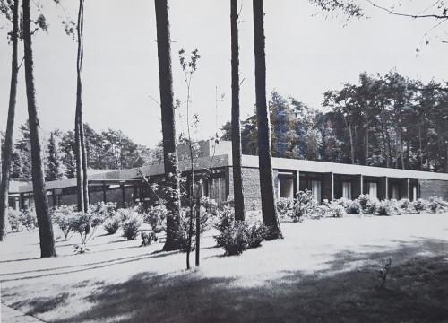 Neubau am ehemaligen Krankenhaus 1972