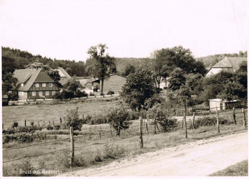 Ansichtskarte Reesseln 1954