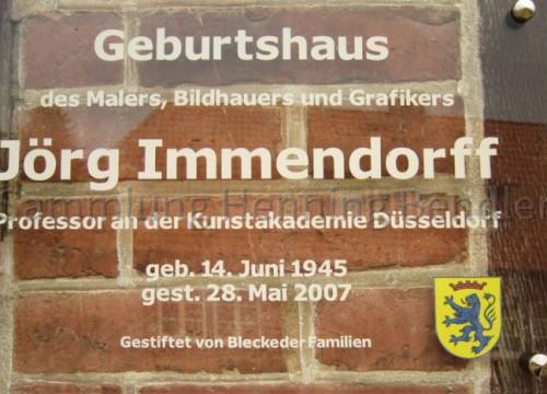 Infotafel Geburtshaus J. Immendorff