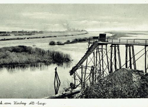 Kiesberg mit Elbe bei Alt Garge
