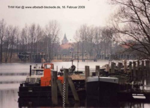 Hafen und Hausboot, Februar 1982