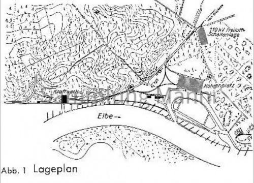 Lageplan Kohlenplatz Hafen Alt Garge