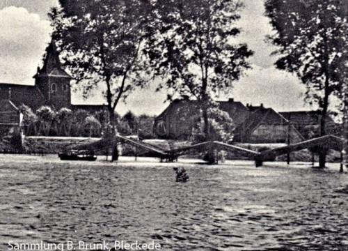 Hochwasser Schützenplatz 1954
