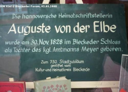 Aushang Auguste von der Elbe