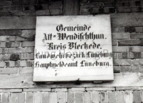 Schild Gemeinde Alt Wendischthun