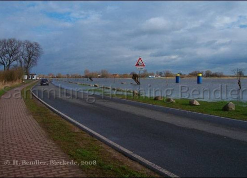 Elbstraße 2008  beim Hochwasser