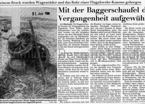 Bericht Brack Dahlenburger Landstr. 1998