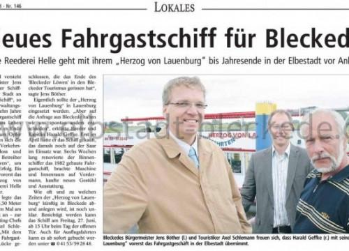 Bericht: Herzog von Lauenburg