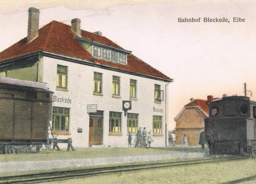 Bahnhof Bleckede 1924