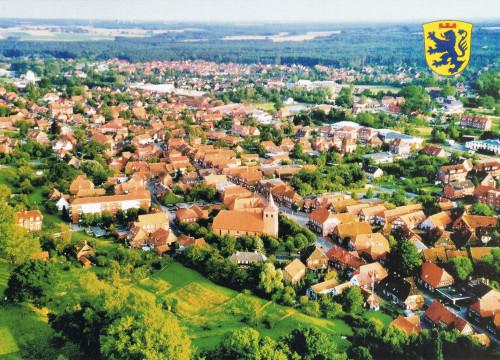 Ansichtskarte Luftbild von Bleckede
