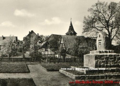 Grethes Garten - Kriegerdenkmal ca. 1940