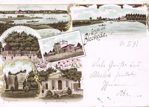 Fähre, Bahnhof, Garten 1898