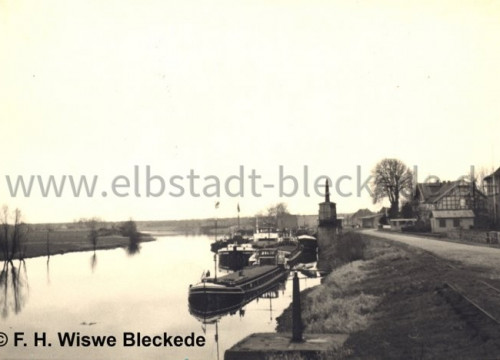 Hafen Bleckede mit Landhaus