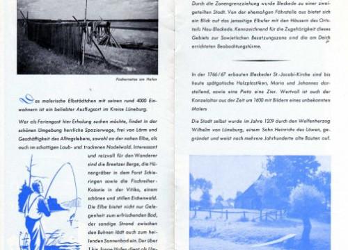 Bleckede Prospekt 1959 - 750 Jahr Feier
