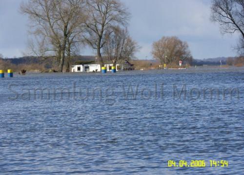 Hochwasser April 2006 - Fährhaus weit