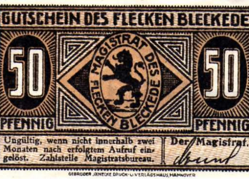 Bleckede - Notgeld 50 Pfg.