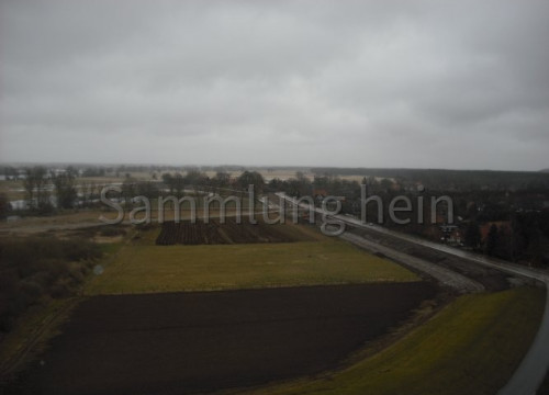 Luftaufnahme Bleckede - Alt Wendischthun, Deichbau