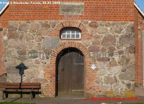 Inschrift am Kirchturm zu Radegast