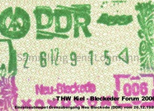 DDR-Einreisestempel 26.12.1989