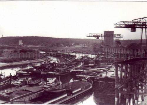 Kohleverladung Hafen Alt Garge 1969
