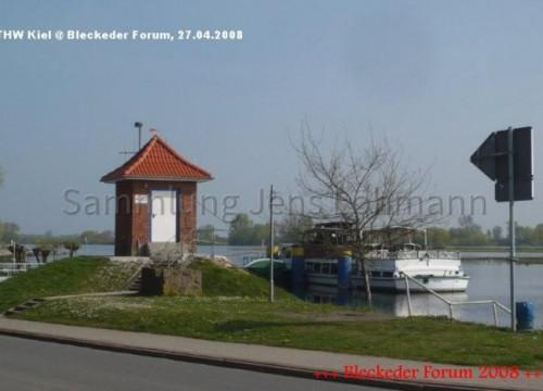 Das Pegelhäuschen am Hafen. 2008