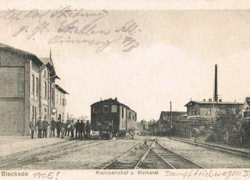 Bleckede Bahnhof und Molkerei