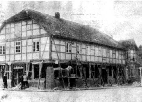 Umbau altes Rathaus 1955