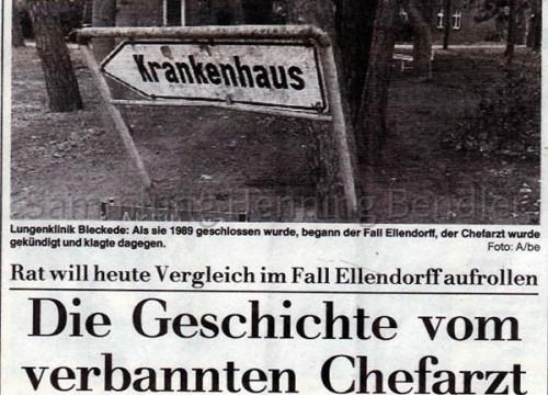 Bericht Krankenhaus 1992