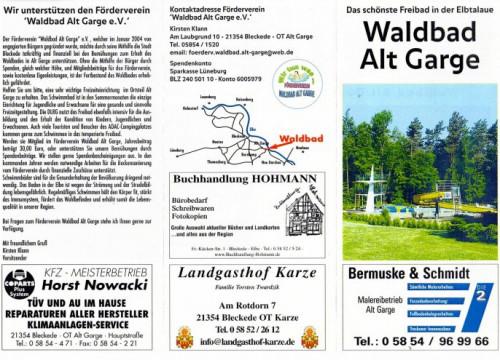 Prospekt Alt Garge Waldbad 2007