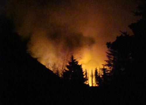 Feuer am 23.04.2011 - Paletten Konau