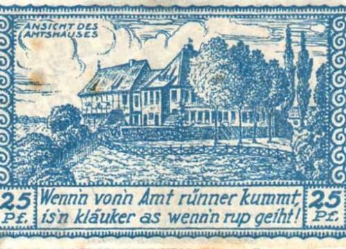Bleckede - Notgeld 25 Pfg.
